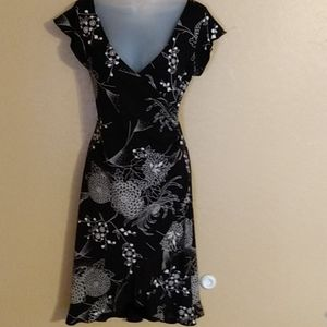 Teeze Me, black and white floral dress